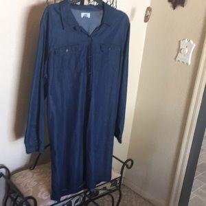 Dark blue dress denim  xxl Old Navy like new